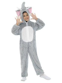 Kids Unisex Elephant Costume Grey Colour
