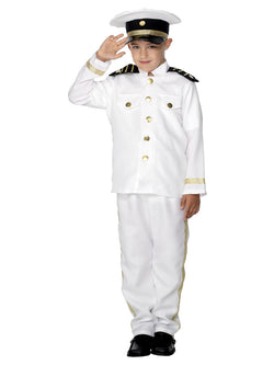 Boy's Captain Costume in White