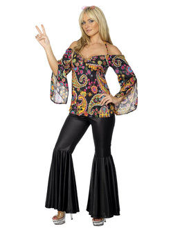 Women's Plus Size Hippie Costume, Female - The Halloween Spot