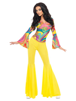 Women's 1970s Groovy Babe Costume - The Halloween Spot