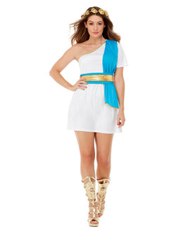 Women's Blue and White Roman Beauty Costume
