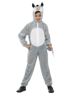 Unisex Kid's Size Grey Colour Wolf Costume