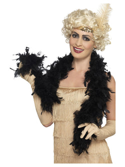 50g Black Feather Boa 150cm Long