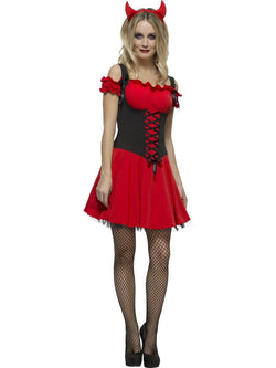 Women's Fever Wicked Devil Red Costume Set