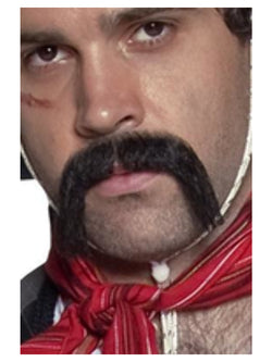 Authentic Western Mexican Handlebar Moustache - The Halloween Spot