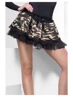 Camouflage Tutu Underskirt, Camouflage, with Lace Top and Bow