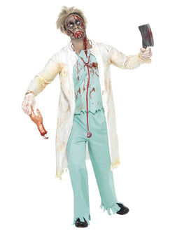 Men's Zombie Doctor Costume - The Halloween Spot