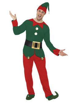 Red and Green Men's Elf Costume