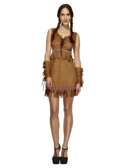 Women's Fever Pocahontas Costume - The Halloween Spot