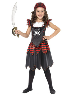 Girl's Pirate Skull & Crossbones Girl Costume