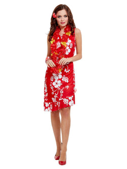 Red Hawaiian Beauty Costume