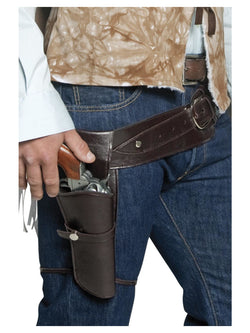 Smiffy's Authentic Western Wandering Gunman Belt & Holster - The Halloween Spot