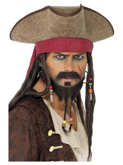 Pirate Hat with Dreadlocks - The Halloween Spot