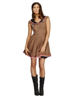Women's Fever Wild West Costume Brown Colour