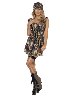Women's Army Girl Costume