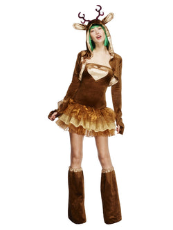 Women's Fever Reindeer Costume, Tutu Dress