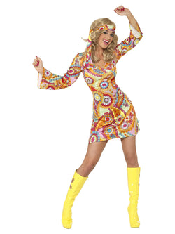 Women's 1960s Hippy Costume - The Halloween Spot