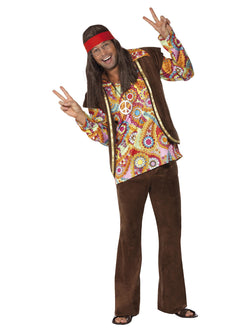 Men's Psychedelic 1960s Hippy Costume - The Halloween Spot