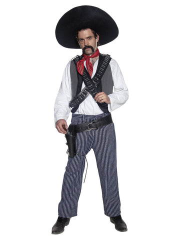 Men's Authentic Western Mexican Bandit Costume