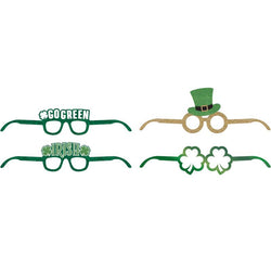 St Patricks Day Party Favor  Deluxe Paper Glasses 4 Ct.