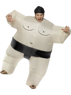 Unisex Inflatable White Sumo Wrestler Costume