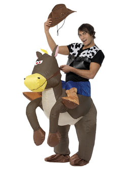 Unisex Ride Em Cowboy Inflatable Carry me Costume - The Halloween Spot