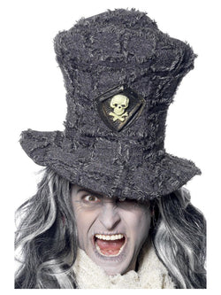 Gravedigger Grey coloured Top Hat