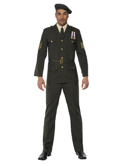 Men's Wartime Officer Costume