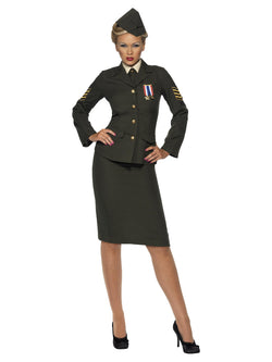 Women's Plus Size Wartime Officer Costume - The Halloween Spot