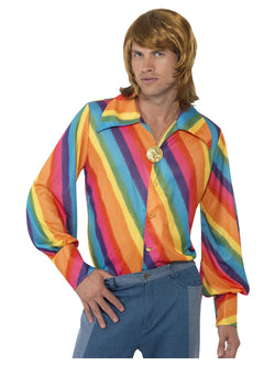 Men's 1970's Rainbow Colour Shirt