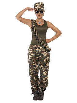 Women's Khaki Camo Deluxe Costume, Female