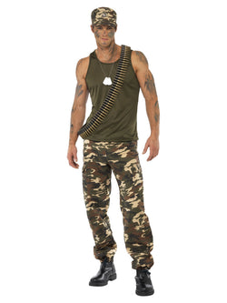 Men's Khaki Camo Deluxe Costume, Male - The Halloween Spot
