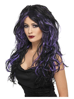 Smiffy's Gothic Bride Wig Purple - The Halloween Spot