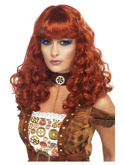 Auburn Steam Punk Female Wig