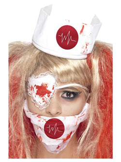 Bloody Nurse Kit in White with Mask