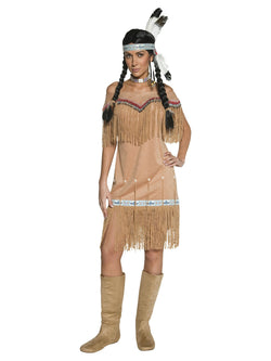 Women's Plus Size Native American Inspired Lady Costume - The Halloween Spot