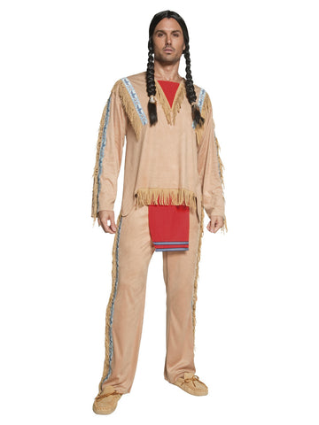 Men's Native American Inspired Chief Costume