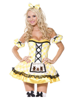 Women's Goldilocks Yellow Costume with Apron
