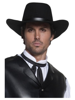 Black Authentic Western Gunslinger Hat