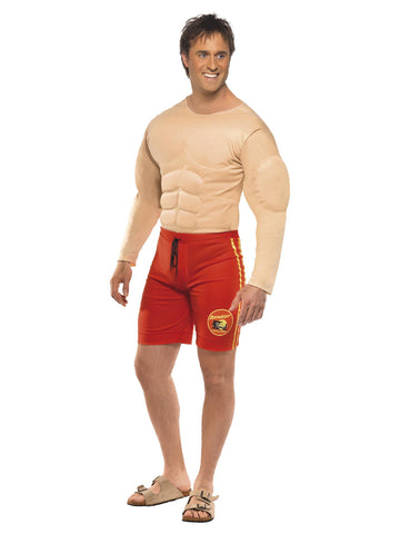 Men's Baywatch Lifeguard Costume Muscle Chest