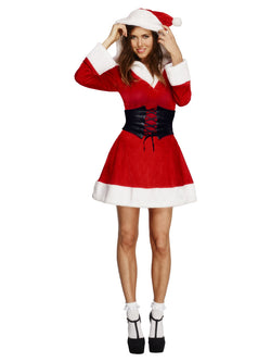 Women's Fever Hooded Santa Red Costume