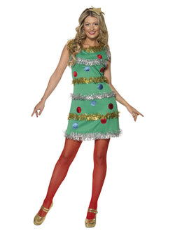 Women's Christmas Tree Costume Green Colour