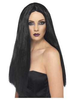 Black 61cm Long Witch Wig