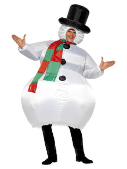 Women's Inflatable Snowman Costume