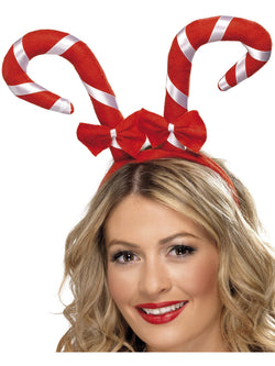 Red & White Candy Cane Headband