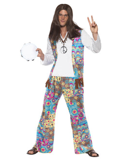 Men's Multi-Coloured Groovy Hippie Costume