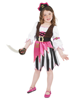 Girl's Pink Colour Pirate Girl Costume