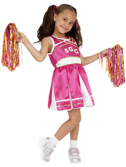 Girl's Cheerleader Child Costume Pink Colour