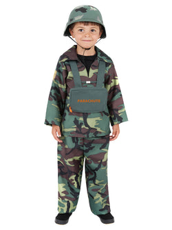 Camouflaged Army Boy Costume
