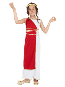 Girl's Grecian Girl Red Costume